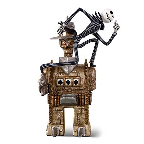 Hallmark Keepsake Ornament 2018 Year Dated, Tim Burton's The Nightmare Before Christmas Jack vs. The One-Armed Bandit, Metal, 1