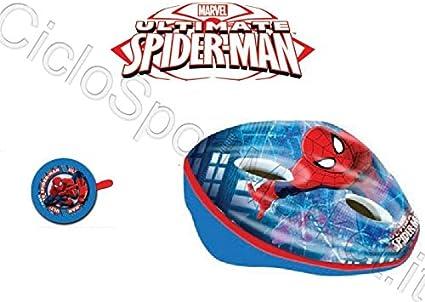 Casco+Timbre Spiderman Niño / Niño / Infantil Ideal para Bicicleta ...