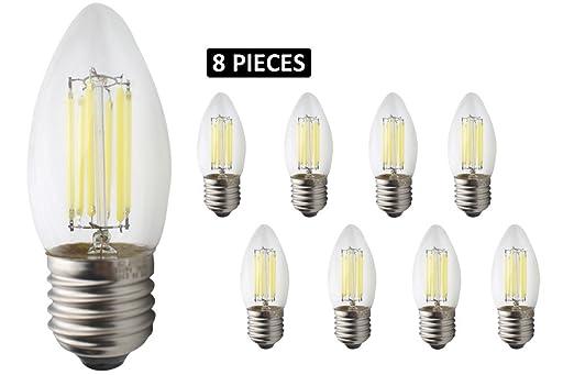 Kronleuchter Glühbirne ~ Jcking 8 pack ac 220v e27 led dimmbare glühlampe vintage glühbirne