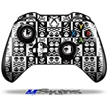 Skull And Crossbones Pattern Bw - Decal Style Skin fits Original Microsoft XBOX One Wireless Controller (CONTROLLER NOT INCLUDED) by uSkins
