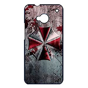 Htc one m7 Cover,Resident Evil Anime Phone Case Cartoon&Comic Movie Style Vintage Custom Hard Plastic Case Cover Resident Evil Element