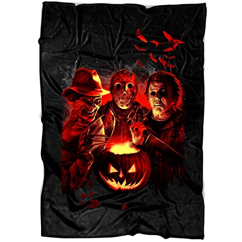 MEXSHOP The Stab Four Halloween Soft Fleece Throw Blanket, The Stab Four Movie Fleece Luxury Blanket (Large Blanket (80
