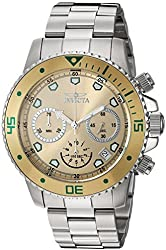Invicta Men's 'Pro Diver' Quartz Stainless Steel Automatic Watch, Color:Silver-Toned (Model: 21888)