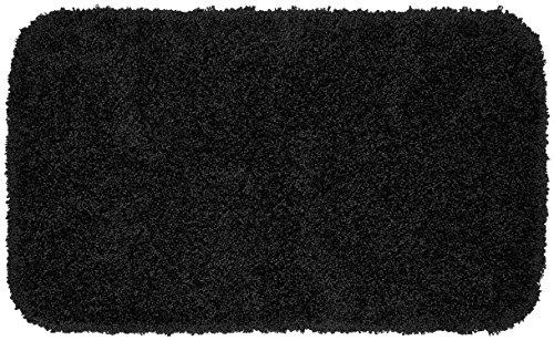 Garland Rug Serendipity Shaggy Washable Nylon Rug, 24-Inch by 40-Inch, Black ()