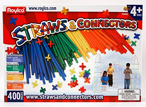 Roylco Straws and Connectors, Pack of (Building Sticks)