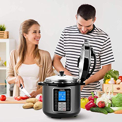 Mueller UltraPot 6Q Pressure Cooker Instant Crock 10 in 1 Pot with German ThermaV Tech, Cook 2 Dishes at Once, BONUS Tempered Glass Lid incl, Saute, Steamer, Slow, Rice, Yogurt, Maker, Sterilizer by Mueller Austria (Image #6)