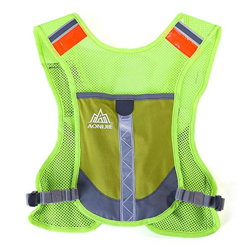Vest Reflective Safety Premium Reflective Running Vest Give Sport Water Bottle For Running Cycling Clothes For Women Men…