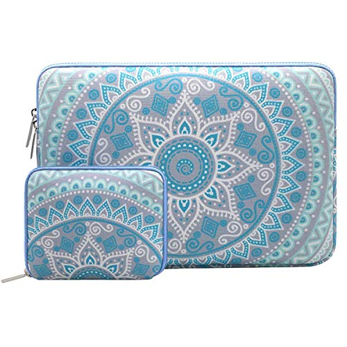 - MOSISO Laptop Sleeve Compatible 12.3 inch Microsoft Surface Pro 6/5/4/3, 11-11.6 Inch MacBook Air, Ultrabook Tablet with Small Case, Canvas Mandala Pattern Carrying Bag Cover, Mint Green and Blue