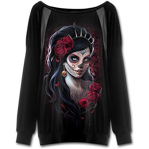 Damen Langarmshirt SPIRAL - Day Of The Dead - K026F453