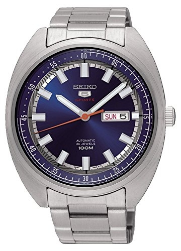 100m Watch Sports (SEIKO 5 'Turtle' Sports 100M Watch Blue Dial SRPB15K1)