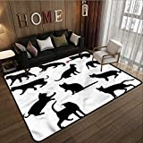 Pet Rug Cat Red Ball Animal Pet Kittens Super Absorbs Mud 6'6''x8'10''