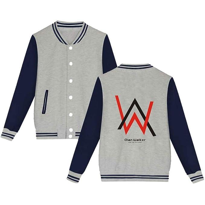 BESTHOO Alan Walker para Novio Y Novia Chaqueta de Béisbol Abrigo con Capucha Caída Invierno Jacket Coat Outwear Sudaderas: Amazon.es: Ropa y accesorios