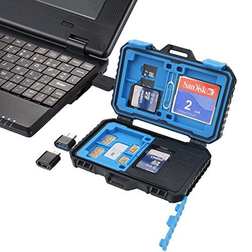 24 estuches para tarjetas de memoria resistentes al agua y a prueba de golpes, almacenamiento de tarjeta SD con tarjeta Pin para 4CF + 8SD + 12TF o 2MSD de PULUZ