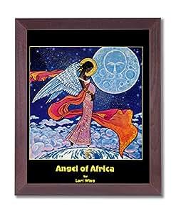 African American Black Angel Picture Framed Art Print