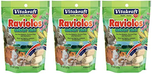 Vitakraft Raviolos Crunchy Treats For Small Animals, 5-Ounces Per Pack (3 Pack)