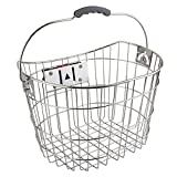 Sunlite Stainless Steel Quick Release Basket, 15.4 x 11 x 9'', Silver