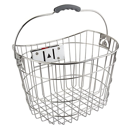 Sunlite Stainless Steel Quick Release Basket, 15.4 x 11 x 9'', Silver by Sunlite