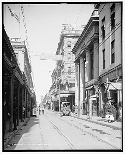 24 x 20 Art Canvas Print of c. 1906 Royal St from Canal St New Orleans La by Detroit Publishing Co - New Canal Orleans St