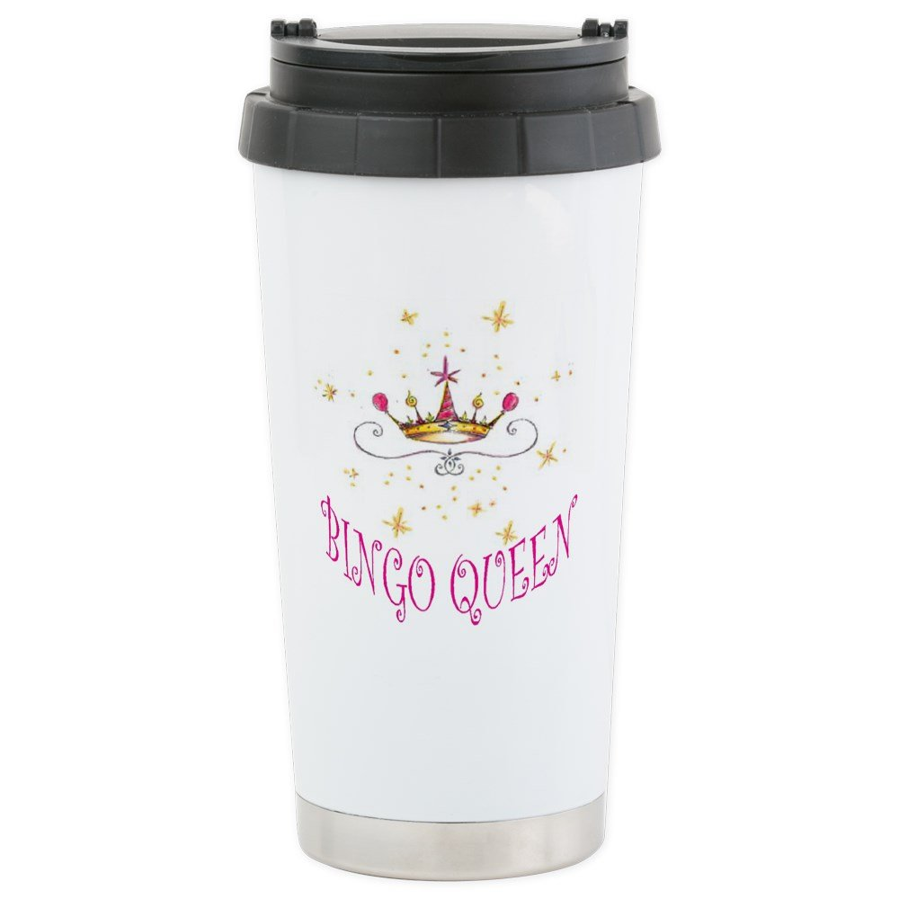 CafePress - Bingo Queen - Stainless Steel Travel Mug, Insulated 16 oz. Coffee Tumbler by CafePress