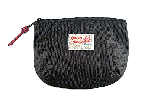 Rough Enough Soft Nylon Big Portable Storage Pouch Bag Case Accessories Organizer Electronics Accessory Organization Travel Cable Management Bag Toiletry Skincare Shaving Dopp Kit Cosmetic Bag by ROUGH ENOUGH