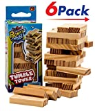 Travel Tumble Tower (6 PACK) by JARU | Board Game Take it Anywhere Play it Everywhere | Item #3276-6