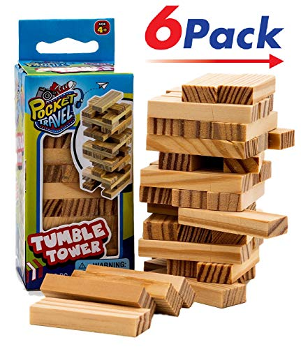 Travel Tumble Tower (6 PACK) by JARU | Board Game Take it Anywhere Play it Everywhere | Item #3276-6 by JaRu