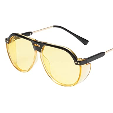 Mymyguoe Dama Gafas de Sol Mujeres Gafas de Sol Grandes Vintage Gafas de Sol Retro Gafas de protección de la radiación de la Moda Gafas de Sol polarizadas ...