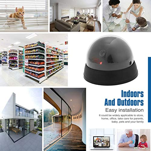 Security camera,Indoor Outdoor Dummy Imitation Surveillance CCTV Security Dome Camera With LED Light Security Guard - Dummy Camera 1800