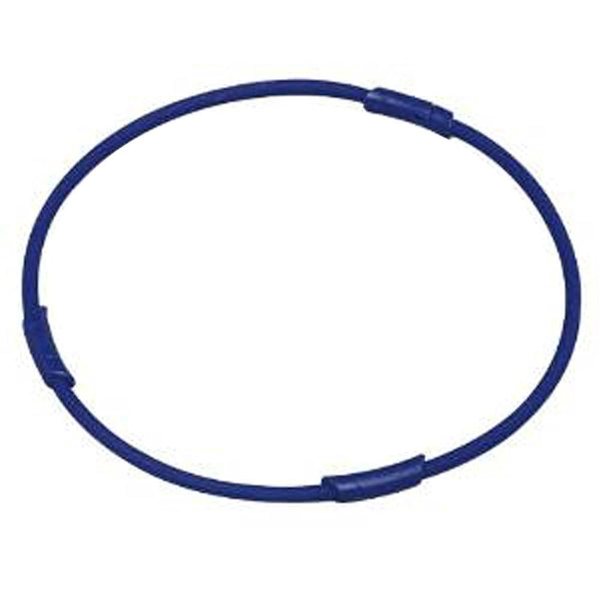 不調和小包バーゲンコランコラン 粋(IKI) マイナスイオンネックレス colancolan (Mサイズ(45cm), ブルー)