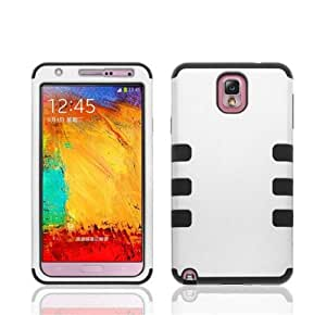 KINGCO Heavy Duty Hybrid High Impact Hard Soft Case Combo for Samsung Galaxy Note 3 III N9000 (white)