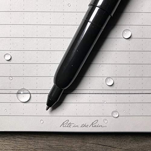 Rite in the Rain All-Weather Belt Holster RevMark Pen, Black 2-Pack, Black 0.9mm Ink (No. BK91)