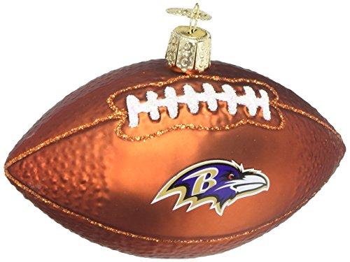 Old World Christmas Glass Blow Christmas Ornament Baltimore Ravens Football