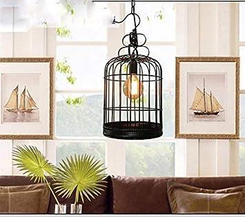 GCCI Voliere Lustre, Eisen Kronleuchter, Tisch Retro Esszimmer Balkon Shop Restaurant Lustre Lichter Kopf Dekoration Einfache