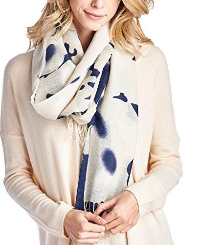 High Style 100% Merino Wool Printed Large Pashmina Scarf Shawl (Q0914391, (Merino Scarf)