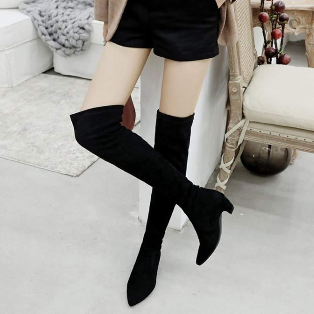 SJJH Damen über Kniehohe Stiefel Stiefel Stiefel mit Kitten Heel b97efc