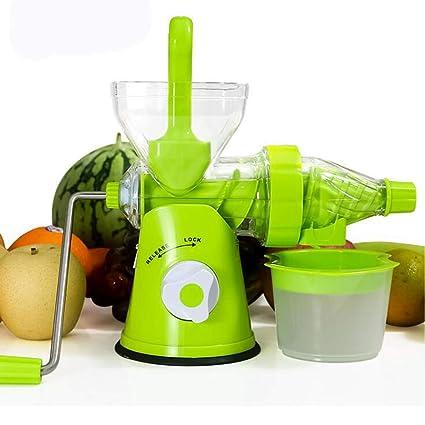 Licuadora Mini Exprimidor Taza Frutas Hechas A Mano Verduras Naranja Sandía Zanahorias Jugo De Manivela Manual