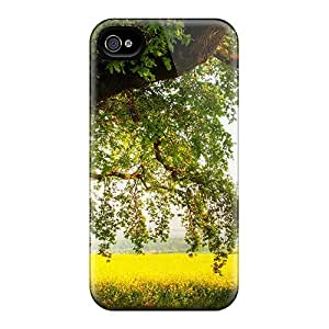 CasePete MgB1109NCCC Case Cover Iphone 4/4s Protective Case In The Shade Of A Mighty Oak Tree