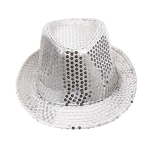 2019 DORIC Sequined Hat Hat Hat Dance Stage Show Performances Solid Color Relaxed Adjustable by DORIC (Image #3)