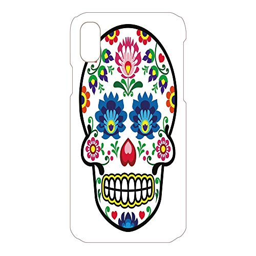 Phone Case Compatible 3D Printed 2018 Apple iPhone Xs MAX DIY Fashion Picture,Art Style Mexican Sugar Skull Design Ethnic Carnival,Lovely Personalized Hard Plastic Phone Case Fashion Stylish ()