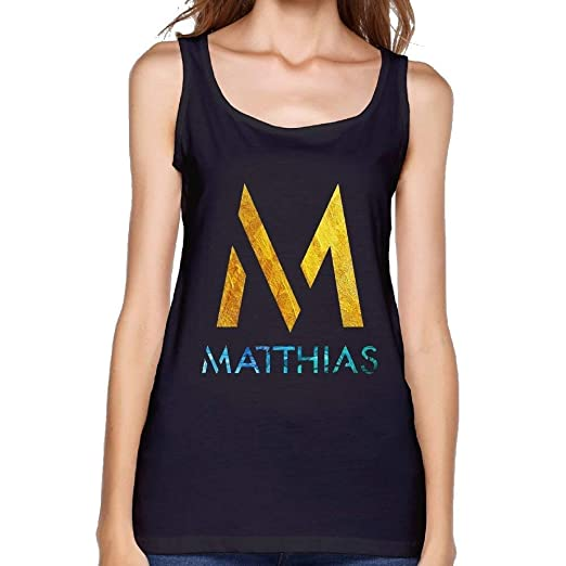 61286fe5946 Wishesport Women Matthias Logo Muscle Bodybuilding Black Shirts Tank Tops  at Amazon Women s Clothing store