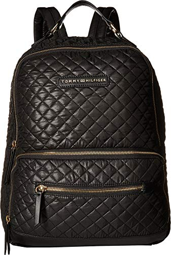 Tommy Hilfiger Women's Alva Backpack Quilted Nylon Black One Size