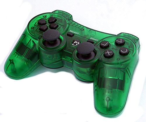Pad Ps3 Wireless (PomeMall Transparent Wireless Remote PS3 Controller Gamepad for use with Playstation 3 (Green))