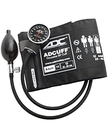 ADC Diagnostix 720 Pocket Aneroid Sphygmomanometer with Adcuff Nylon Blood Pressure Cuff, Adult, Black