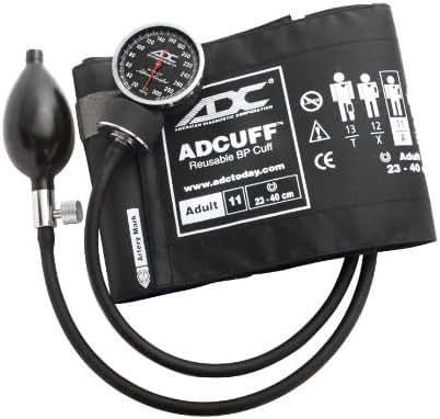 ADC Diagnostix 720 Pocket Aneroid Sphygmomanometer with Adcuff Nylon Blood Pressure Cuff