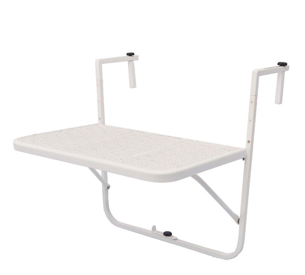 CSQ テーブル、バルコニー掛けテーブル、コーヒーテーブル、サイドテーブル、ソファサイドテーブルベッドサイドテーブルドレッシングテーブルダイニングテーブル木材サイドテーブル40 * 60 * 71CM コー\u200b\u200bヒーテーブル (色 : 白) B07DPF82C6 白 白