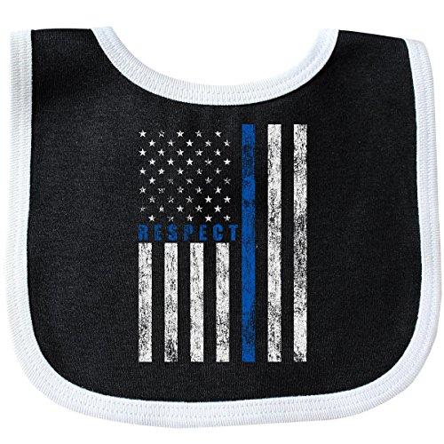 Inktastic - Respect Policemen Baby Bib Black/White - Blanket Baby Line