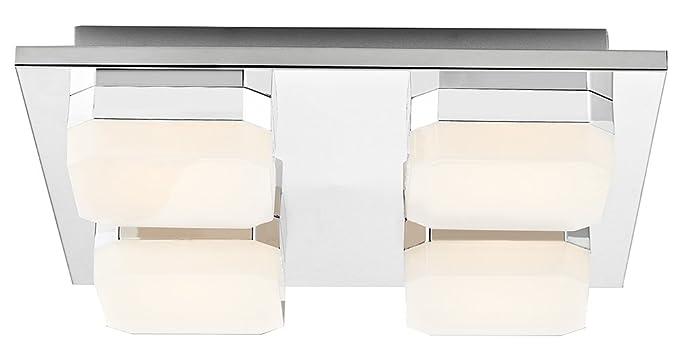 Haysom Interiors - Lámpara LED de techo para baño (metal ...