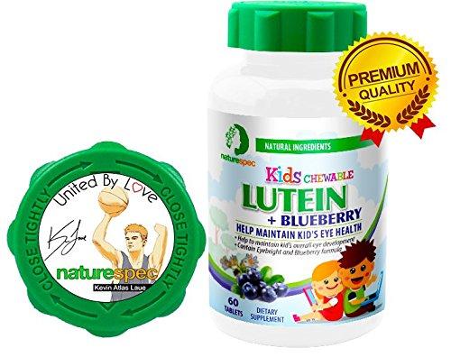 Nature Spec Kids Chewable Lutein Premium Blueberry Flavor Taurine Vitamin Zinc Eyebright Extract Lycium Extract Kid's Eye Health,Vitamin Chewbale Eye Health Kid Lutein by Nature Spec (Image #2)