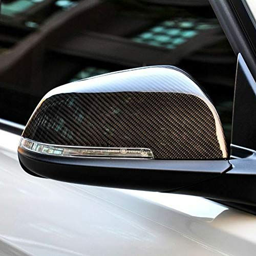 - zzpopGG Car Mirror,Mirror Cover,1 Pair Carbon Fiber Car Mirror Cover Caps for BMW 5 Series E60 F10 2014-2017