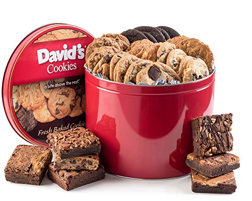 - David's Cookies and Brownie Family Pack - 5 Lb. Gift Tin